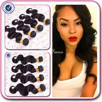 Queen hair products 6A brazillian virgin hair body wave 1b# 2# 4# free shipping 4 bundles brazilian body wave human hair vendors