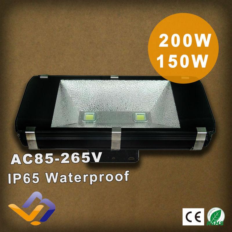 150W 200W led flood light AC85-265V high power high lumens waterproof IP65 outdoor lighting tunnel/exhibition hall lamp(China (Mainland))