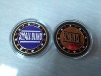 big blind small blind 40g Metal poker chips 0.3cm thick free shipping high quality