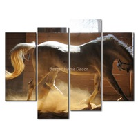 3 Piece Wall Art Painting Yield Horse Print On Canvas The Picture Animal 4 5 Pictures Oil For Home Decoration Prints Decor