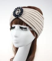 10pcs/lot , Womens Boho Knitted Headband, Winter Ear Warmers, Beaded Heaband Turban Free shipping