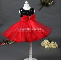 wholesale 2014 Newest Elegant dress black red princess dress flower princess girl dress,Wedding girls dresses  6pcs\lot TY-N1