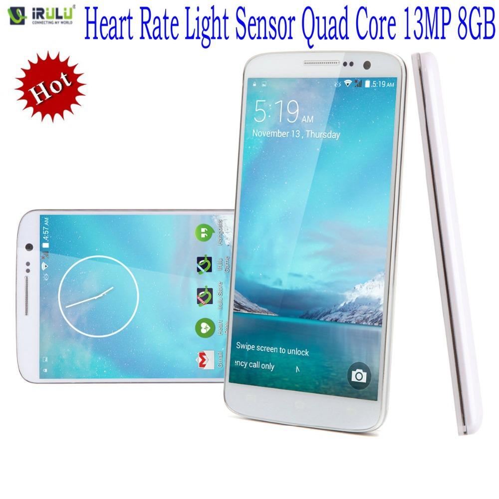 "iRulu Brand U2 5.0"" MTK6582 Android 4.4 Quad Core Smartphone 8GB Dual SIM QHD LCD 13MP CAM Heart Rate Light Sensor Function Hot(China (Mainland))"