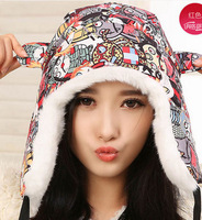 2014  winter warm cap with ear flaps fur hats snow caps women hats aviator hats for lady