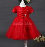 wholesale 2014 princess girl dress,lace diamond girls dresses fashion party flower girl dress free shipping  6pcs\lot TY-N5