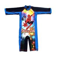 Children's Swimwear one piece Swimsuit Boy: Child Boys Spiderman Patterns Jumpsuit Surfing Suit -Boys Wear Cartoon