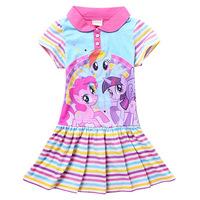 Free shipping! 2014 summer girls dress,Girls cute frozen dress,Girls my little pony dress,  Bow Dress 2-8 years