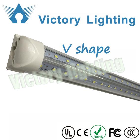 Free Shipping 5ft 32W v shaped led tube light for cooler double pcb tubes for USA market(China (Mainland))