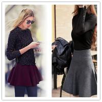 Woman High Waist Saias Skirts OL Houndstooth Short Mini Pleated Skirts Ball Gown Feminina Vintage Autumn Winter Spring ay852652