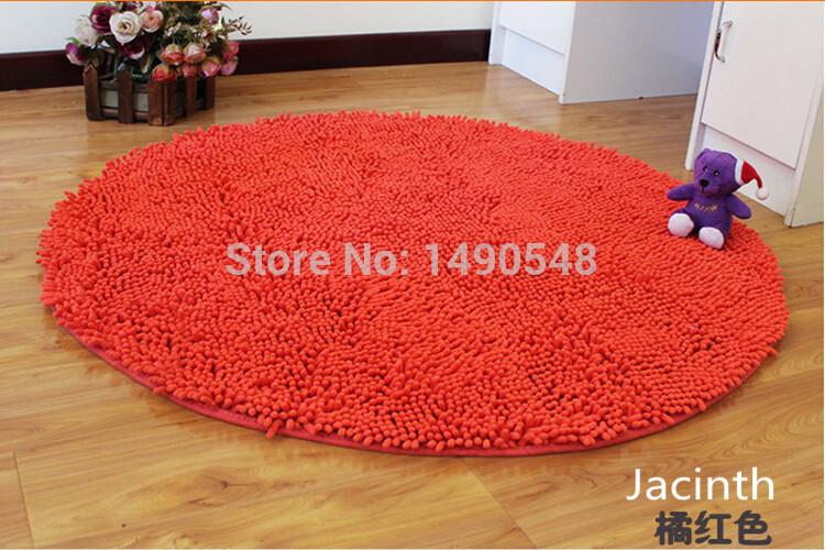 Grátis frete venda quente 100 cm * 100 cm Chenille Shaggy tapete do assoalho rodada tapete Kitchen Bath Mat tapete capacho Pad(China (Mainland))