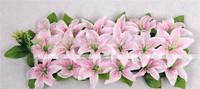 Artificial Silk Flowers Simulation Lily Floral Arrangements Square Pavilion Corsage Wedding Flower Home Party Decorations