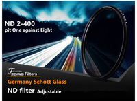 Professional Zomei Adjustable 77mm ND Filter ND2 - 400 Coating Protector Lens Germany Glass for Canon Nikon Camera Free Shipping