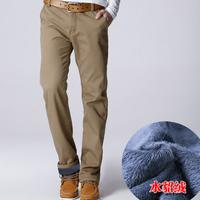 2014 Winter Pants Men Velvet Lining Warm Pants Classic Casual Pants For Men Winter Warm Trousers  Outdoors Pants