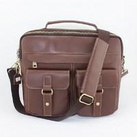 100% Crazy horse leather men tote shoulder bags  men Messenger bag briefcase Bags laptop handbag businessmen's travel bag 2015