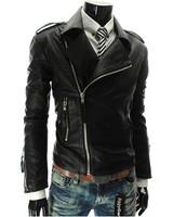 2014 Jacket Man Leather Jacket Turn-down Collar Men's Leather Motorcycle Jacket Winter Men Leather Jacket Coat EJ657068