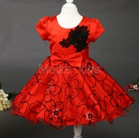 wholesale New 2014 child sleeveless laceembroidery flower  dress,wear flower,baby girl party dress, free shipping 6pcs\lot
