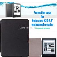 for kobo aura h2o 2014  sleepcover protective case for 6.8''  ereader(not fit kobo aura hd / kobo aura 6'')+screen protector
