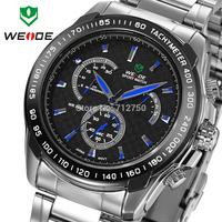 Sporty style WEIDE original JAPAN movement quartz wristwatch 30 meter water resistant Men fashion sports watch relogio masculino