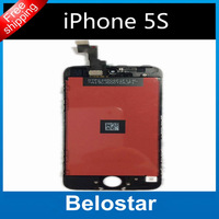 Hot sale for iphone 5S lcd capacitive screen digitizer lcd screen assembly replacement +one free glass protector free shipping