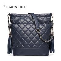 New 2014 genuine leather bags women messenger bag women handbags bolsas femininas shoulder bag fashion crossbody Bucket Tassel