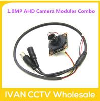 Popular 1.0MP AHD Camera Modules Combo (1Megapixel Main Board +MTV IR Cut + 3Megapixel MTV  2.8mm lens + Simple Cable)