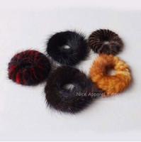 2014 Fall Winter Real High Quality Mink Fur Hair Band/Hair Holder/Hair Scrunchies Woman Wholesales 20PCS/LOT