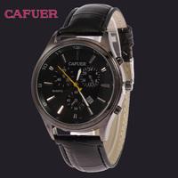 CAFUER Military Calendar Watch Casual Outdoor Genuine Leather Clock Men Sport Quartz Watches Men 2014 Brand CAFUER Hot Sale