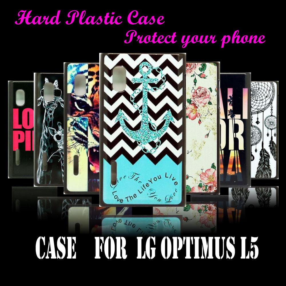 For LG optimus L5 E612 E615 E610 Cover Case New Arrival Logo Anchor Dirt Shock Proof Custom Skin Hard Plastic High Quality(China (Mainland))