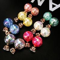 Newest Broken  Pearl Earrings Multicolor Earrings Statement Fashion Zircon Double Stud Earrings Women Party Jewelry brincos cc