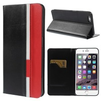 For iPhone 6 5.5 inch Contrast Color Folio Stand Leather case for iphone 6 5.5inch 1pcs free shipping