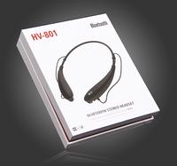Lightweight CSR Chipset Bluetooth V4.0 Handsfree Bass Stereo Wireless Neckband Sport Bluetooth Headset Earphone With Microphone