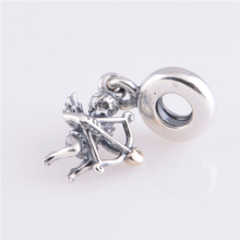 New 2014 Cupid charm 925 sterling pendants for jewelry making angel design LW345