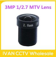 2014 Freeshipping 3MP 1/2.7 Image Format M12*0.5 Mount 2.8mm IR Camera MTV Lens