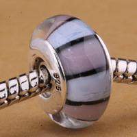 A080 925 sterling silver DIY thread Murano Glass Beads Charms fit Europe pandora Bracelets necklaces  /adgaiuna dccaltja
