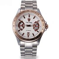 TEVISE Brand Relogio Masculino Military Full Steel Luxury Watch Men Automatic Mechanical Watch Self-Wind Clock Men Wristwatch