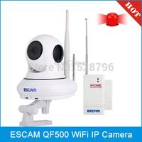 ESCAM QF500 HD 720P 1.0MP Pan / Tilt H.264 P2P 3.6mm WiFi IR-Dome Camera, Dual IR-CUT Filter, IR Distance: 10m