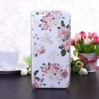 Free Shipping Fashion New Color Print Flower Series Hard Case Cover for i Phone 6 plus