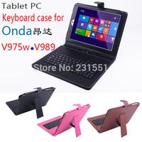 9.7 Inch Russian Keyboard Case For Onda V975i V989 V979M V975W Tablet PC Spanish / Russian Keyboard & Multi-Language Keyboard