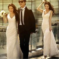 2015 latest bridal wedding dress Korean version of spring dragged deep V-neck lace fishtail bridal dress