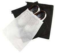 1600pcs/lot Black White Mesh Drawstring Bags For Shoes Clothes Storage Bag Zakka Organizer Travel Package Novelty household