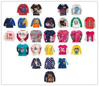 3 pcs/lot Children t-shirt 100% Cotton boys tees Tops Children T-shirt Baby Girl Long sleeve t shirts Cartoon Blouse Kids brand