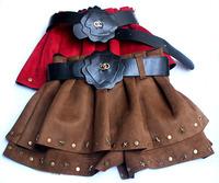 wholesale (5pcs/lot)-child girl lrs-013 autumn and winter Suede  star Rivet Culottes shorts