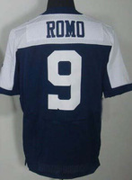 free shipping wholesale #9 Tony Romo Jersey,Elite Football Jersey Best quality Jersey Size M L XL XXL XXXL Accept Mix Order