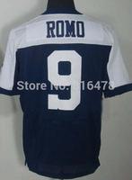 free shipping wholesale #9 Tony Romo Jersey,Elite Football Jersey Best quality Jersey Size M L XL XXL XXXL Accept Mix Order