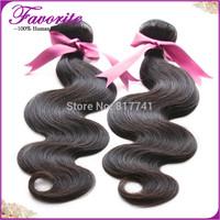6A Brazilian Virgin Hair Weaves Body Wave Ali Favorite Hair 2PCs lot Bundles Unprocessed Virgin Brazilian Human Hair Extension