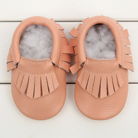 18 colors baby soft shoes frings shoes 2014 HOT new style baby moccasins soft moccs baby shoes free shipping 50 pairs/lot