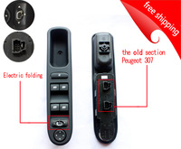 Free shipping for Peugeot 307(the old section )  left  front door window lifter switch