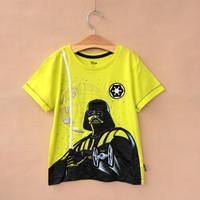 2014 Brand New Star Wars Yellow T shirt 2-10y kids Clothing Free Shipping DA506