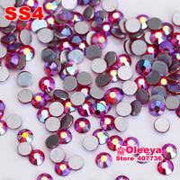 SS4 1.5-1.7mm 1440pcs Siam/red AB Color Nail Art Rhinestones Non HotFix   Rhinestones For DIY,Nail Art,Casual Dress