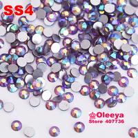 SS4 1.5-1.7mm 1440pcs Light.amethyst AB Color Nail Art Rhinestones Non HotFix   Rhinestones For DIY,Nail Art,Casual Dress